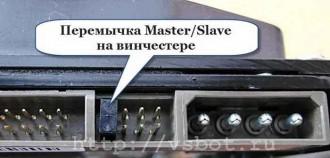 Перемычка Master/Slave на винчестере IDE