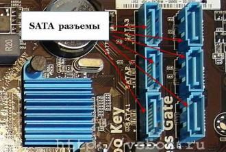 Разъемы интерфейса SATA