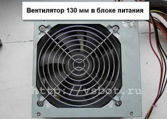 Вентилятор блока питания