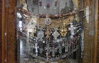 Подвески на Свтогорской иконе