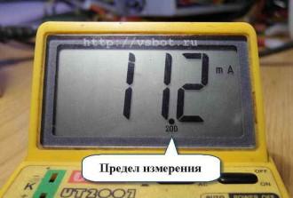 измеренный ток