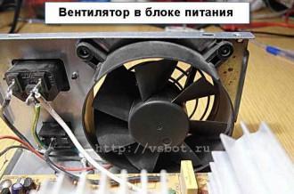 Вентилятор в блоке питания