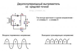 Двухполупериодная схема выпрямления