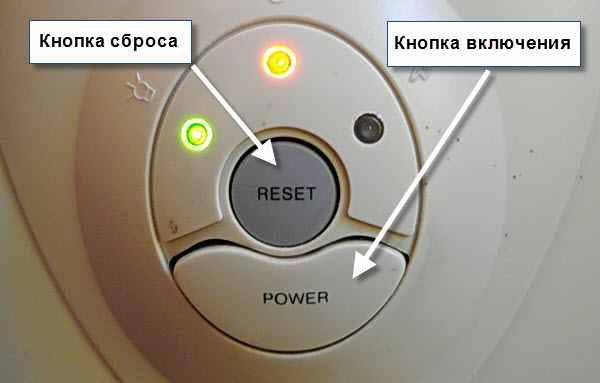 Кнопки сброса и включения