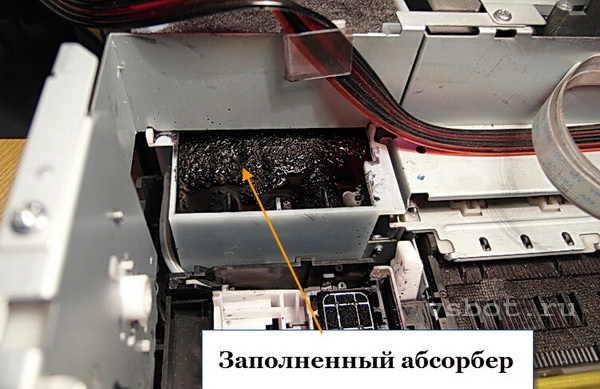 Заполненный абсорбер струйного принтера