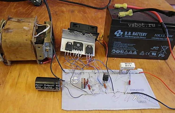 Зарядка аккумулятора от ибп своими руками