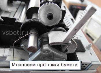 Механизм протяжки бумаги в матричном принтере