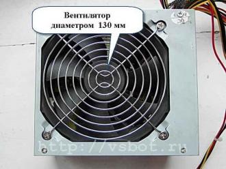 Вентилятор охлаждения блока питания