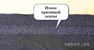 Изношенная лента в картидже