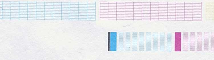 Тест сопел печатающей головки