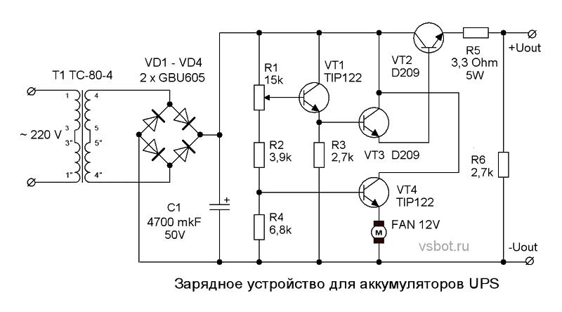 Зарядное устройство для аккумуляторов UPS