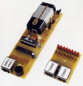 Кабельный тестер на контроллере