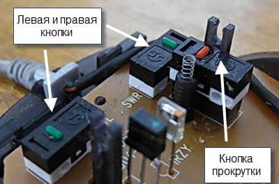 кнопки манипулятора