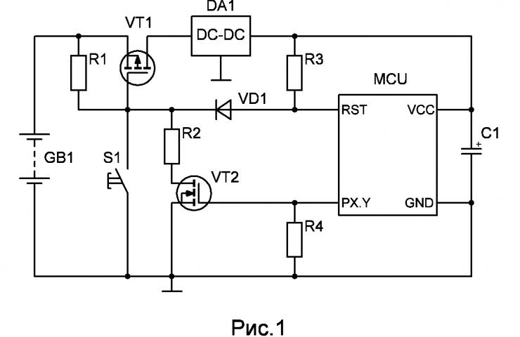Блок-схема устройства на микроконтроллере