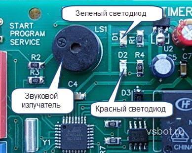Световая и звуковая индикация таймера