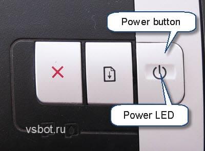 Кнопка и индикатор включения