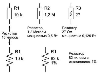 Обозначение резисторов в схемах